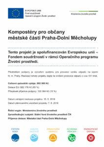 Povinná publicita - dotace kompostéry 2018