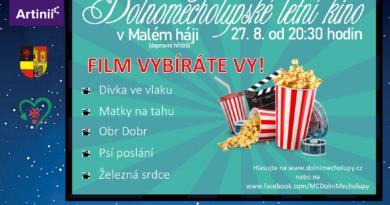 Plakát-letní kino v Malém háji