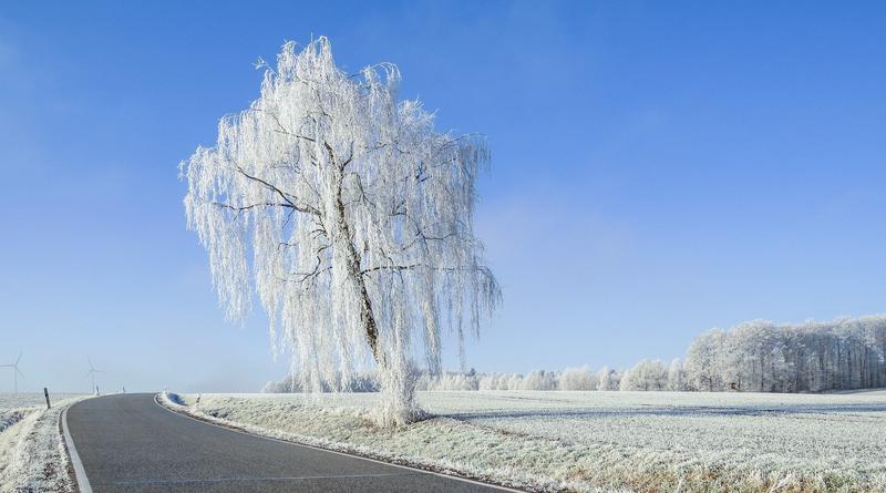 ilustrační obrázek -zima, cesta