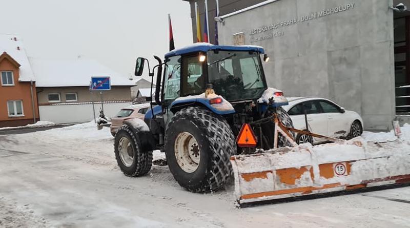 ilustrační: zimní údržba silnic